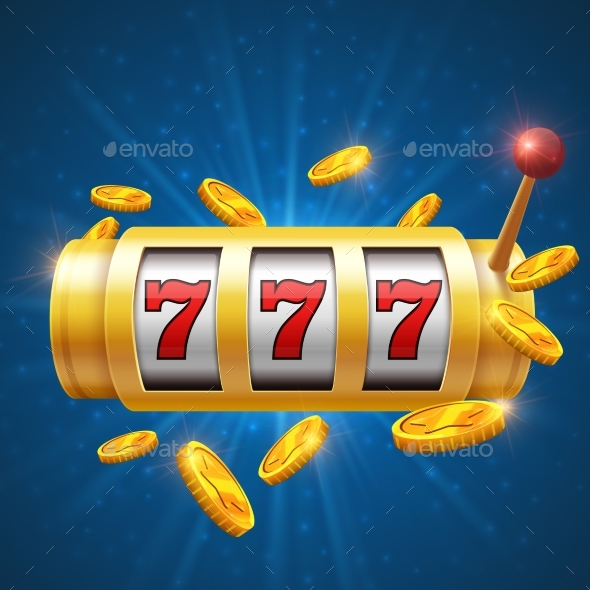Winner Gambling Vector Background with Slot