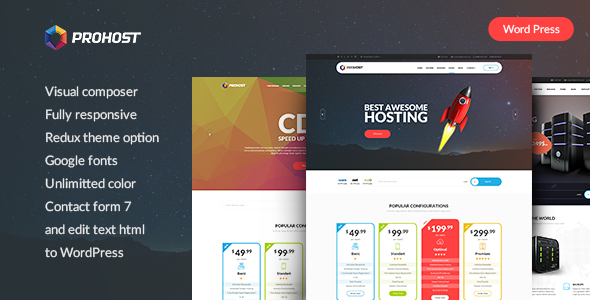 Download ProHost - Power Pack Hosting WordPress Theme