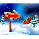 Cartoon Colorful Winter Landscape Template