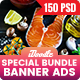 Special Bundle - Food & Restaurant Banners Ad - 150 PSD - GraphicRiver Item for Sale