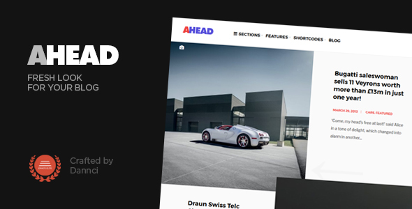Ahead - Fresh looking personal blog theme