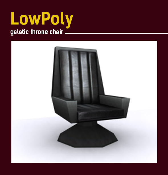 Lowpoly galatic throne chair model - 3DOcean Item for Sale
