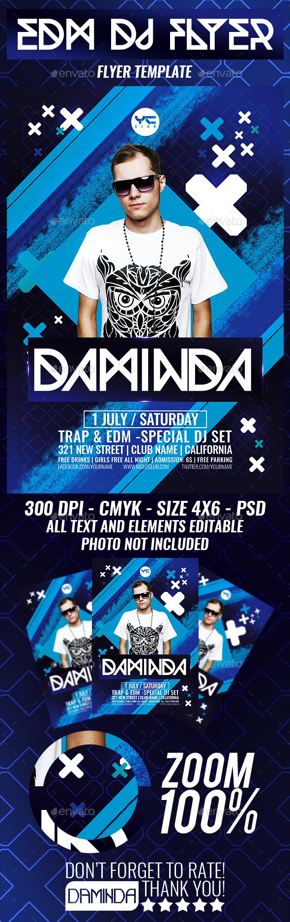 Electro Dj Poster 6 Flyer Template - Clubs & Parties Events