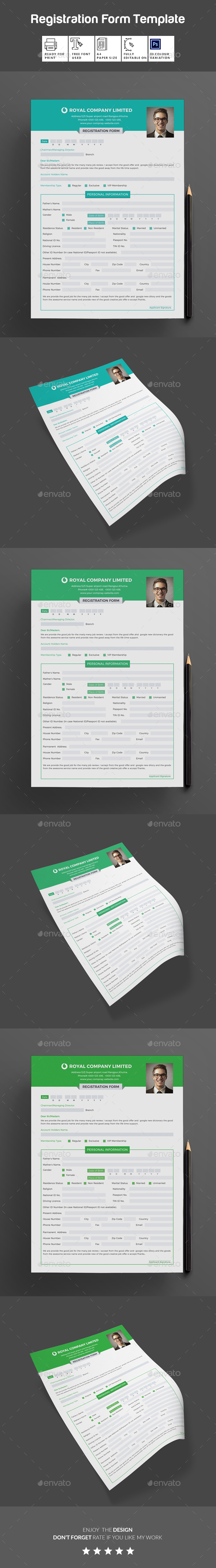 GraphicRiver Registration Form 20232423