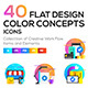 Set of Modern Flat Multi Color Conceptual Icons - GraphicRiver Item for Sale