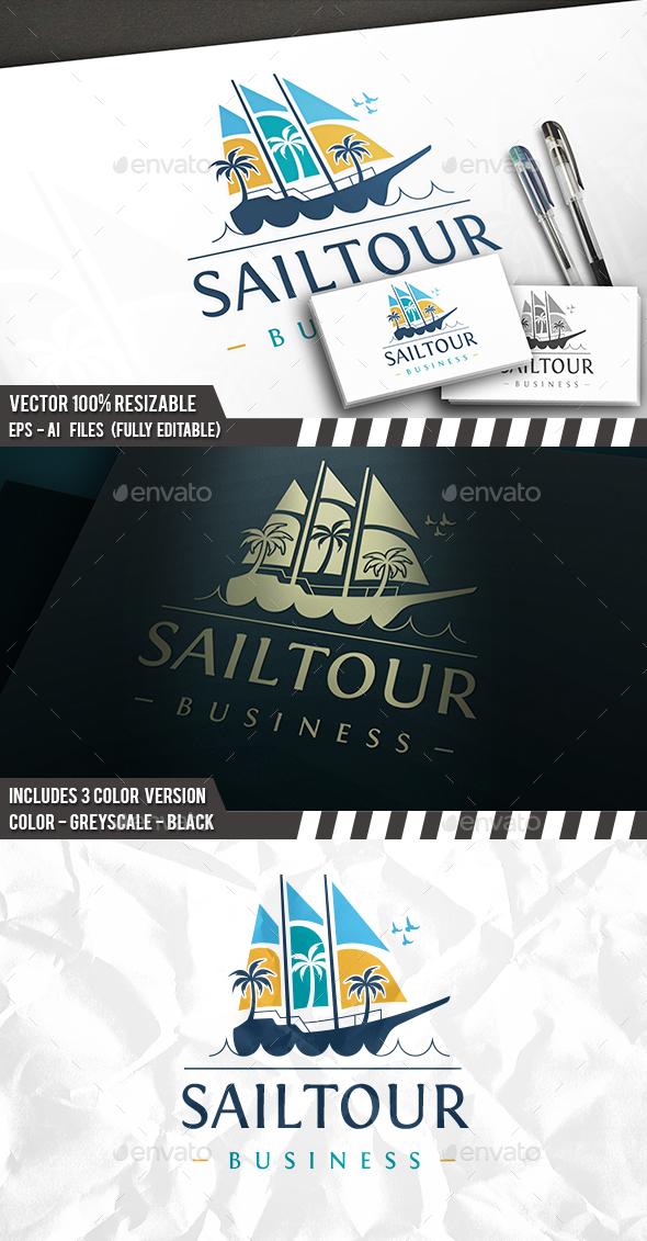 Sea Sail Travel Logo - Objects Logo Templates