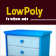 Lowpoly 3D furniture set