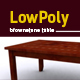 Lowpoly 3D brownstone table model
