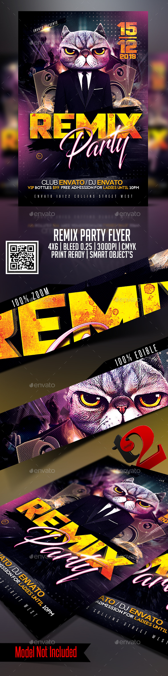 Remix Party Flyer Template - Clubs & Parties Events