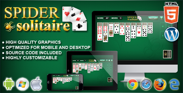 Spider Solitaire - HTML5 Solitaire Game - CodeCanyon Item for Sale