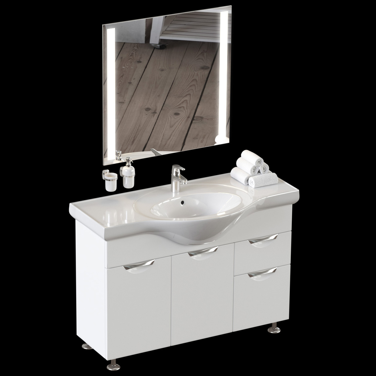 Beau Set Of Bathroom Equipment And Accessories For Bathrooms
