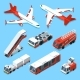 Airplanes Set and Other Support Machines