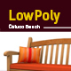 3D lowpoly Caluco bench model