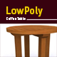 3D lowpoly coffee table model