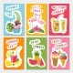 Vector Summer Party Labels Set with Different