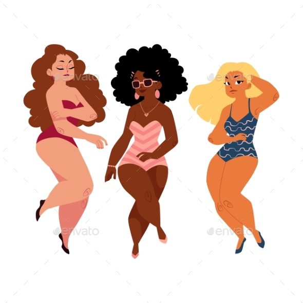 Plus Size Models - People Characters