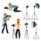 Set of Cartoon Photographers at Work - GraphicRiver Item for Sale