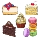 Set of Desserts - Cupcake, Chocolate and Vanilla - GraphicRiver Item for Sale