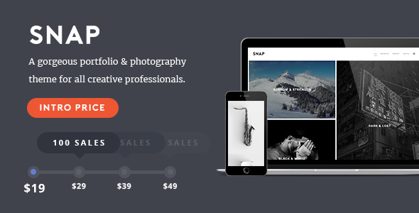 Download SNAP - Creative Portfolio / Photography WordPress Theme