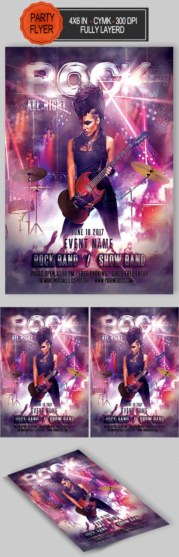 Rock Flyer - Clubs & Parties Events