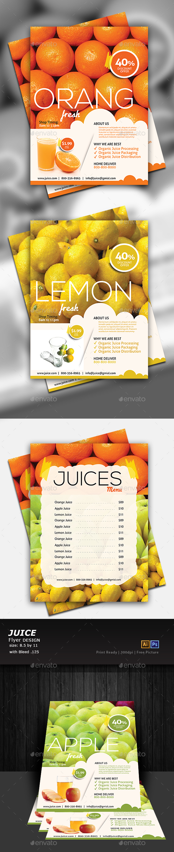 Juice Shop Flyer - Flyers Print Templates
