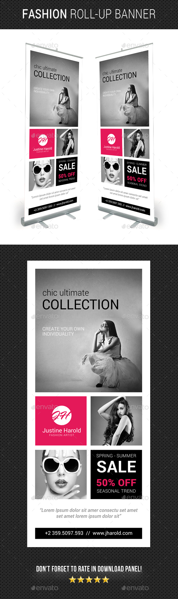 Fashion Roll-Up Banner 04 - Signage Print Templates