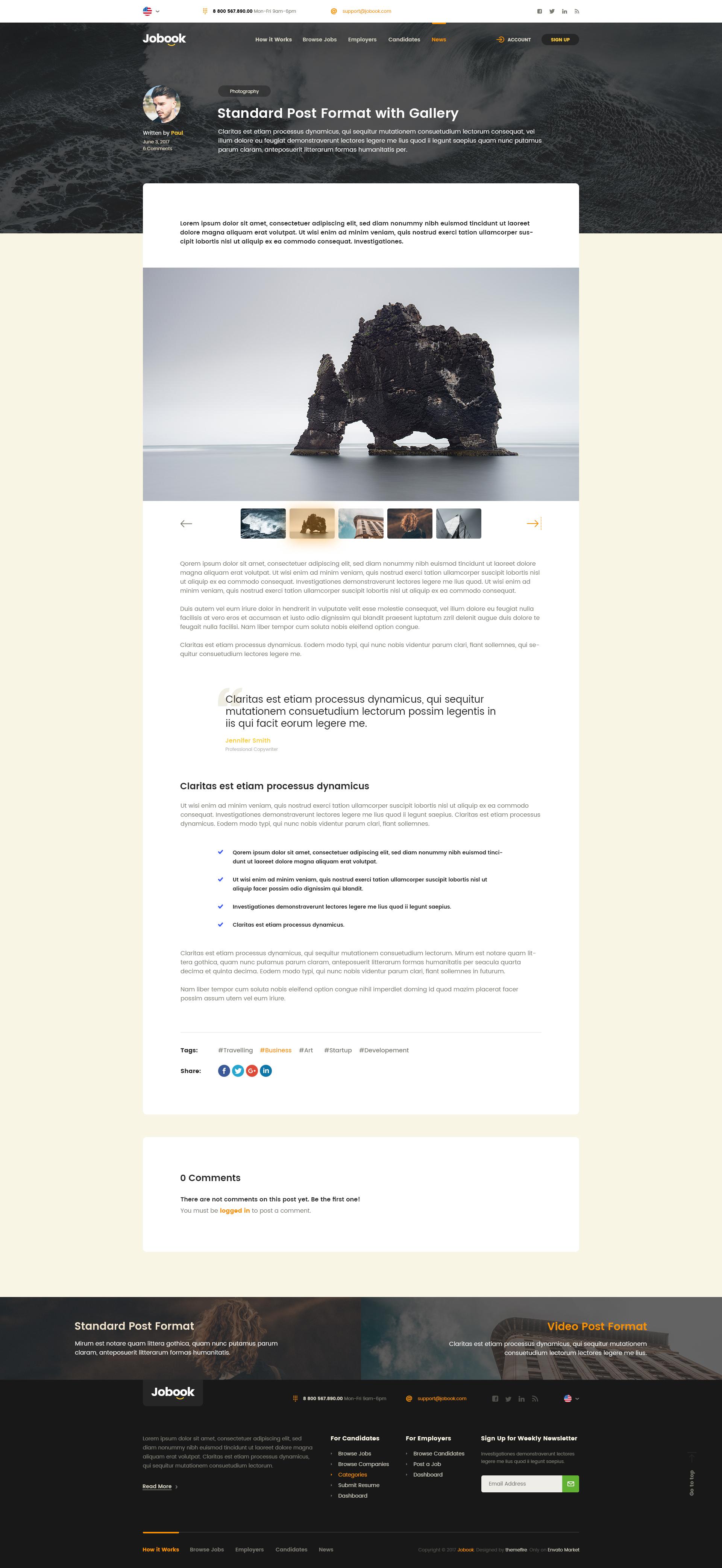 Job Board Website Template