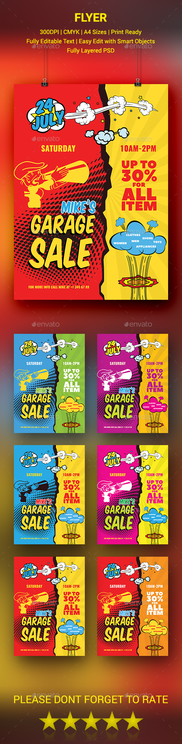 GraphicRiver Garage Sale Flyer 20233112