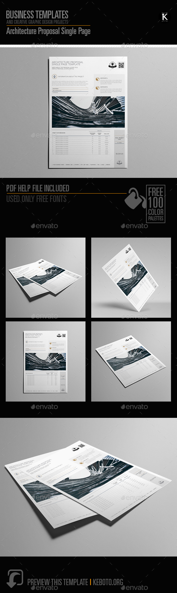 Architecture Proposal Single Page - Miscellaneous Print Templates