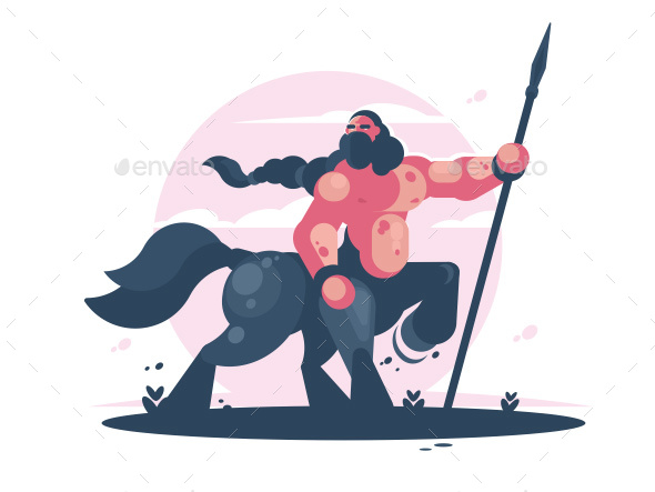 GraphicRiver Character Centaur with Spear 20233124