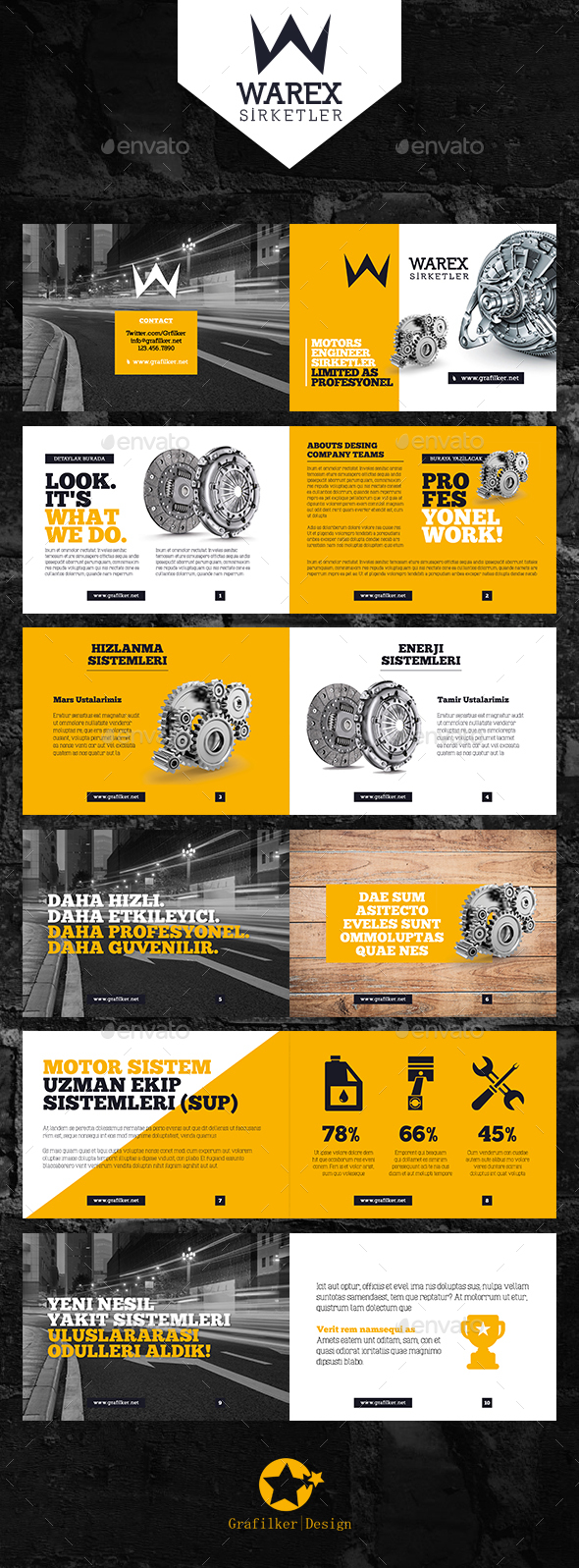 Product information brochure templates by grafilker for Information brochure template