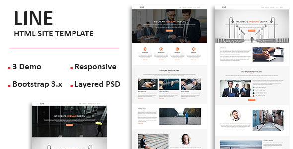 nulled template  line - multipurpose responsive one page html template