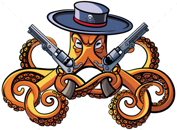 GraphicRiver Octopus the Bandit 20233229