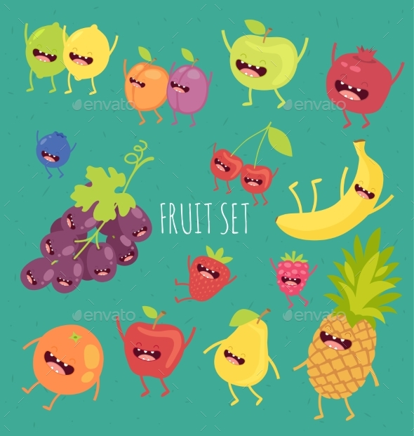 Illustration of Fruit on a Bicycle - Food Objects