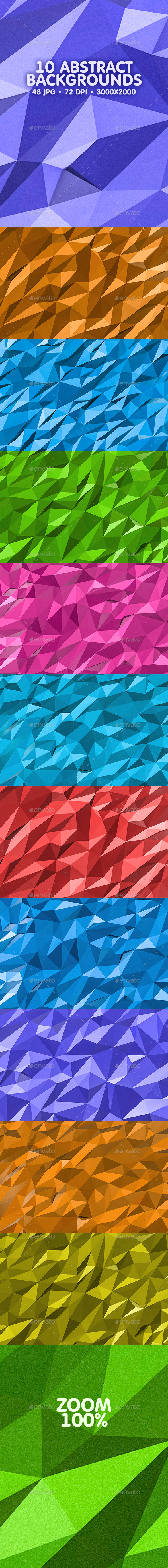 GraphicRiver Polygonal Backgrounds 20233313