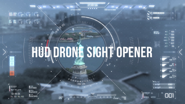 VideoHive HUD Drone Sight Opener 20233339