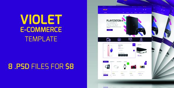 ThemeForest Violet E-Commerce PSD Template 20169190