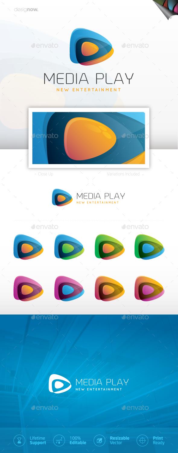 Media Play Logo - Company Logo Templates