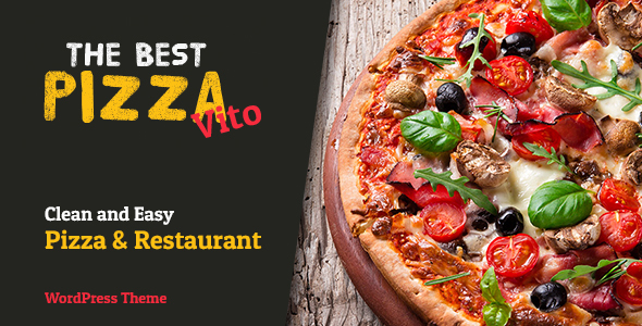 Vito's - Pizza & Restaurant WordPress Theme - Creative WordPress