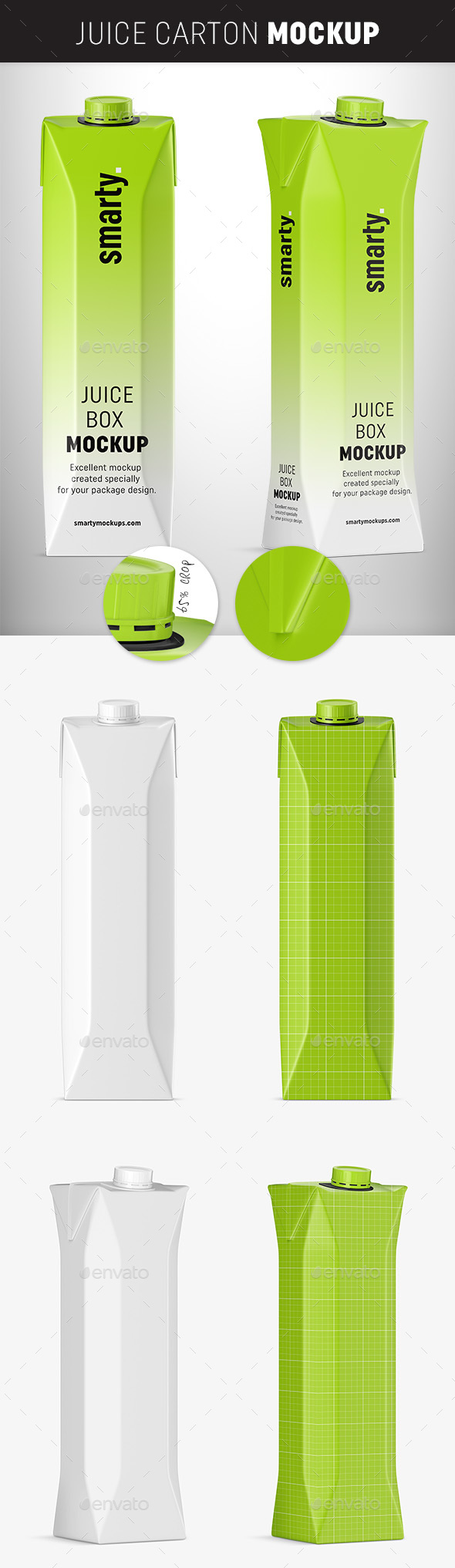 GraphicRiver Carton Juice Mockups 20233530