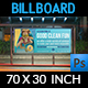Swimming Pool Cleaning Service Billboard Template - GraphicRiver Item for Sale