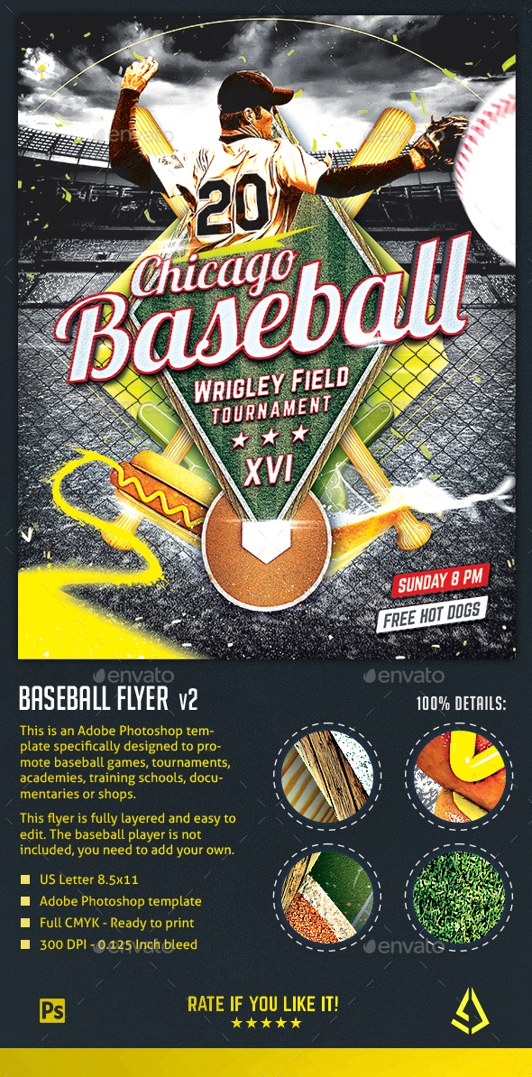 baseball nights flyer baseball tournament poster template sports events
