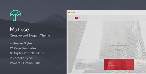 Matisse - Creative & Elegant Theme - Creative WordPress
