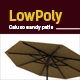 3D lowpoly sandy patio model