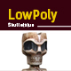 3D lowpoly Skull Statue model - 3DOcean Item for Sale