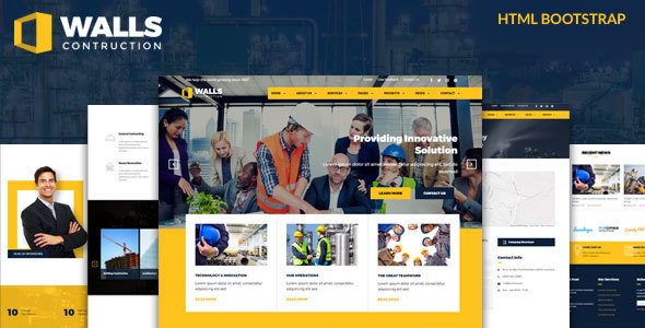 Walls - Construction HTML Template