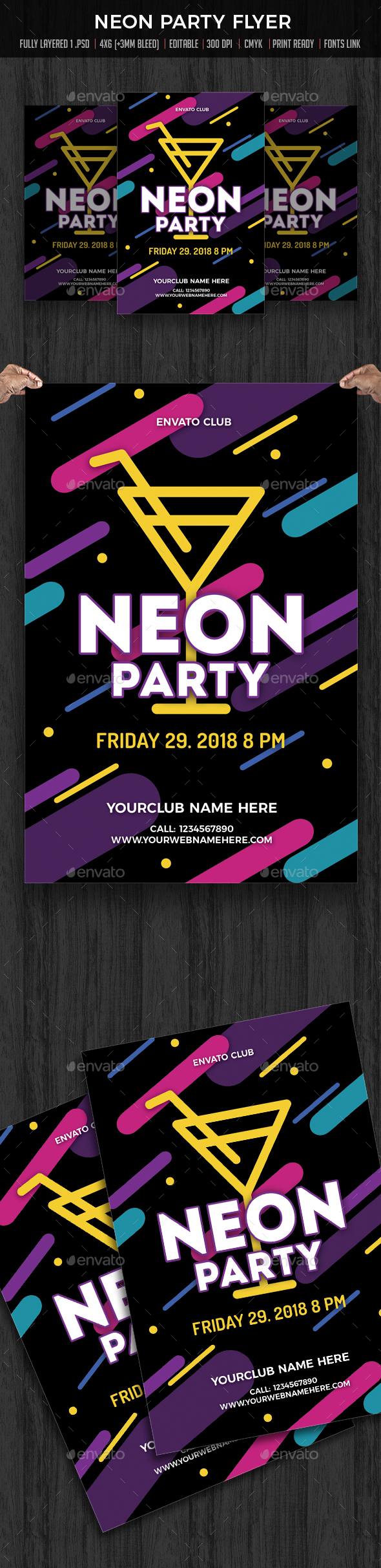 Neon Party / Cocktail Party - Clubs & Parties Events