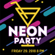 Neon Party / Cocktail Party - GraphicRiver Item for Sale