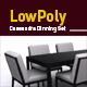 Lowpoly Cassandra Dinning set 3D model