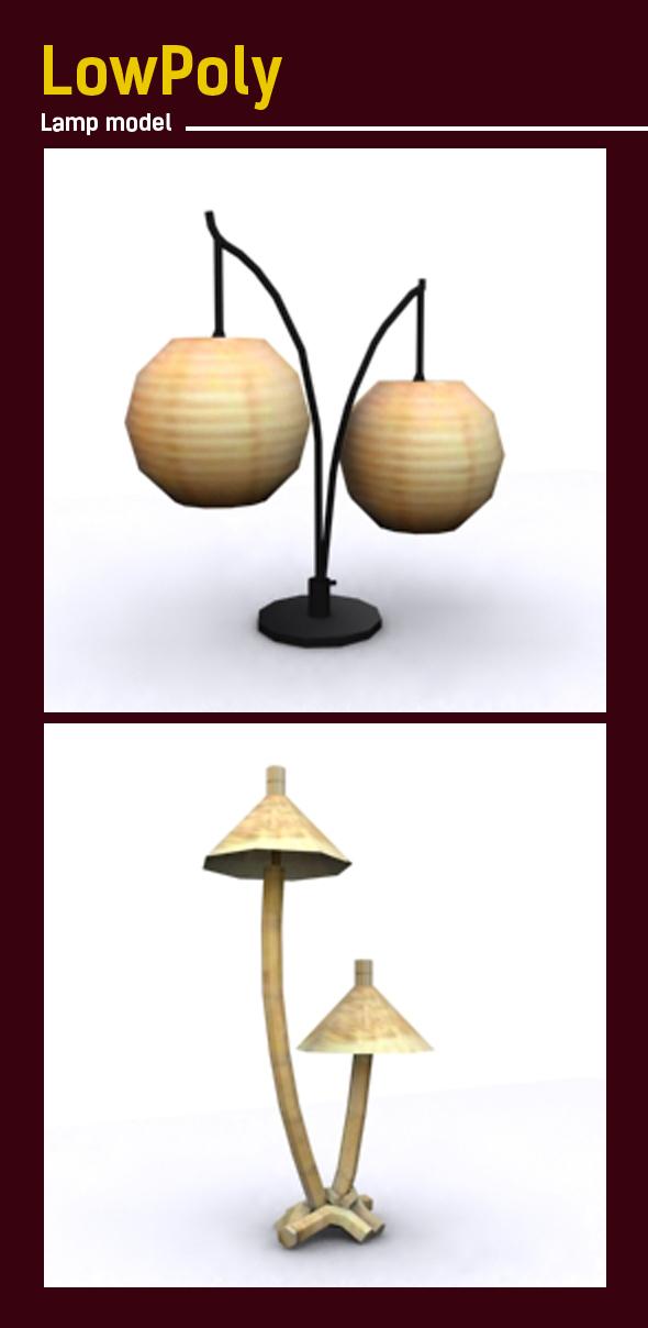 Lowpoly Lamp 3D model - 3DOcean Item for Sale